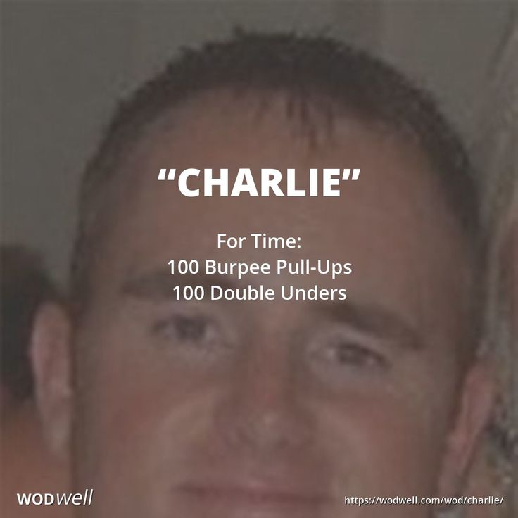 """""""Charlie"""" WOD - For Time: 100 Burpee Pull-Ups"""
