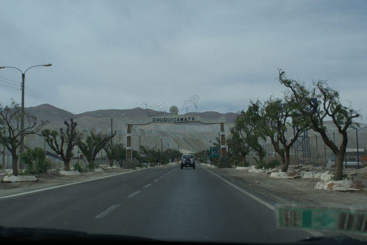 Entrada y salida de Chuquicamata
