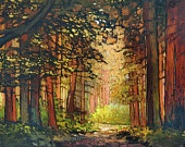 Mission Arts and Crafts CRAFTSMAN Pine Sunset - Matted Giclee Art PRINT Vertical 11x14 by Jan Schmuckal. $40.00, via Etsy.