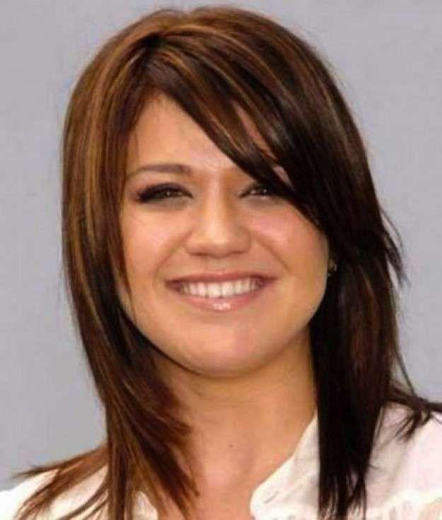 Cortes de pelo para cara redonda: Fotos de los cortes de pelo - Cabellos liso y media melena