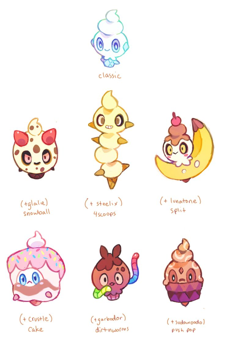 vanillite+variations+by+extyrannomon.deviantart.com+on+@DeviantArt