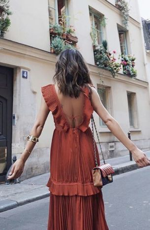 Roaming the streets of Paris in a chic yet easy to wear floaty maxi dress.
