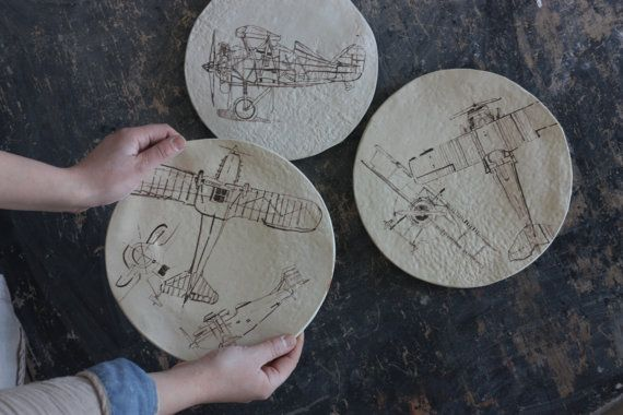 Decorative Plates with Planes