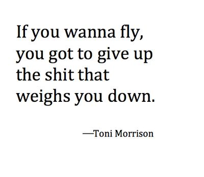 Toni doesn't always have to be articulate to get the message across -preach it sista!