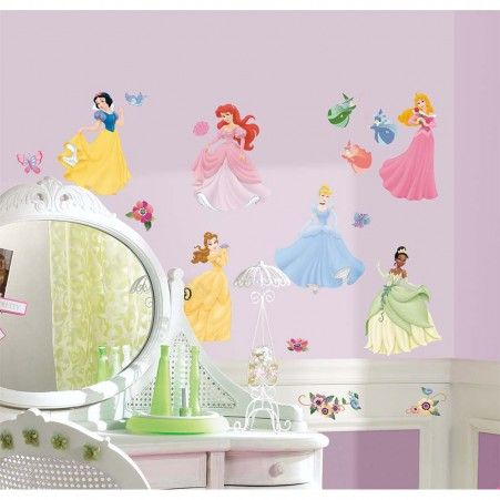 Disney Princess Wall Decals with Gems | RoomMates Peel and Stick Décor
