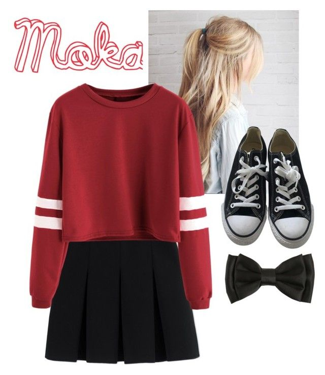 """""""fleur 5"""" by carameldazzle on Polyvore featuring Alexander Wang and Converse"""