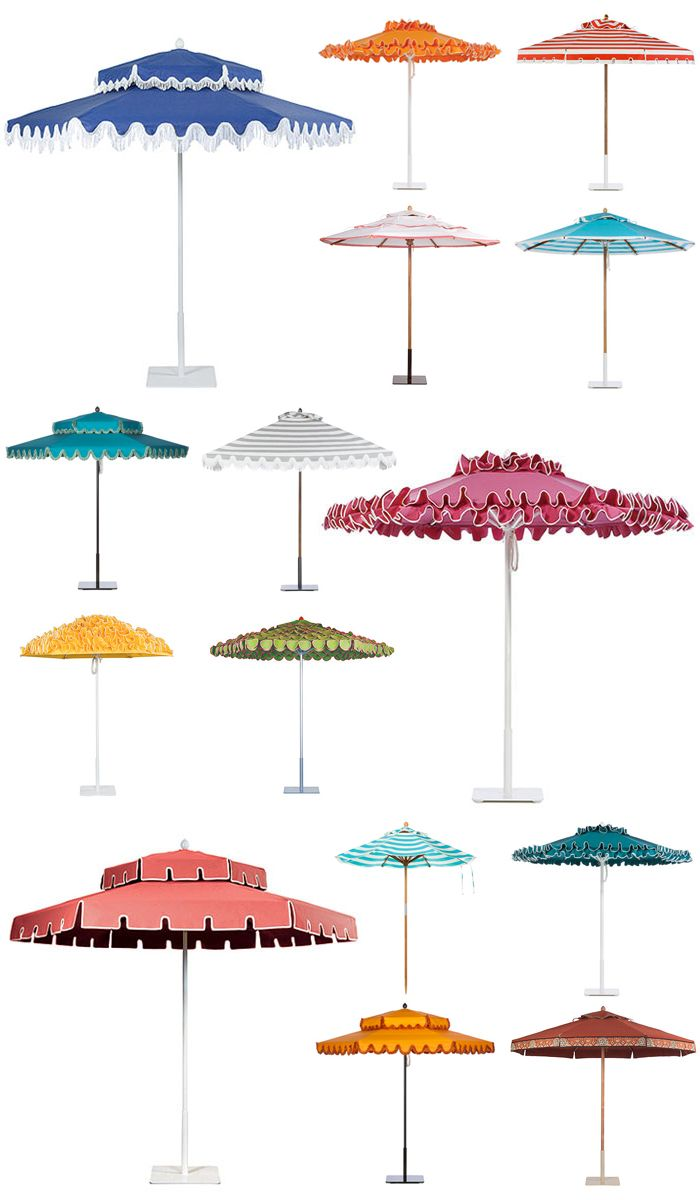 POOLSIDE GLAMOUR A LA SLIM AARONS: STYLISH PATIO UMBRELLAS - Palm Springs Style