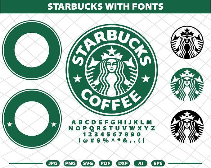 Donut Starbucks coffee CUT file Cheetah Starbucks Logo for Silhouette Cameo or Cricut DIY Print Starbucks Coffee bundle SVG file
