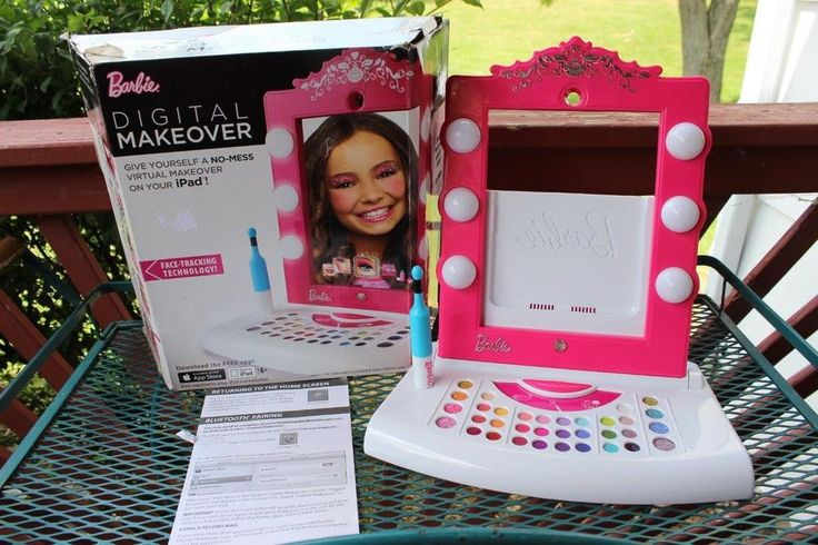 Barbie Digital Makeover iPad Mirror Virtual Makeup Beauty Salon Scrapbook