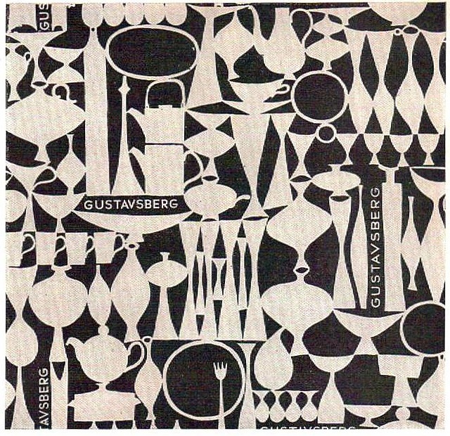 Gustavsberg paper - sample of in-store paper for gifts and purchases. Design by Stig Lindberg.