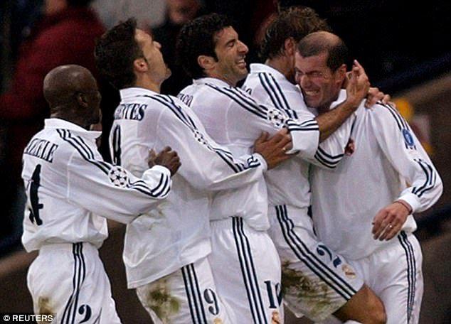 Real Madrid boasted a team of big-money superstars including Luis Figo and Claude Makelele