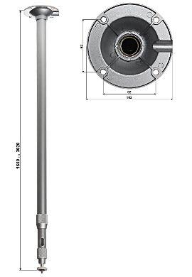 TELESKOPOWY UCHWYT SUFITOWY KAMERY BR-150X300