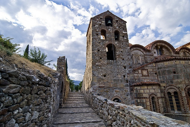Mystras, Greece. Situated near ancient Sparta it served as the capital of the Peloponnesus in the 14th & 15th centuries.