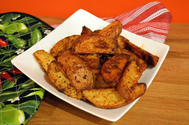 Mexican Potato Wedges- simple side dish with Mexican flare- perfect for any meal!