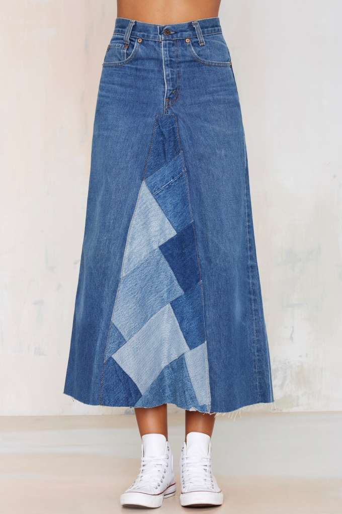 After Party Vintage Palmina Denim Skirt - After Party | Skirts | Skirts | Maxi