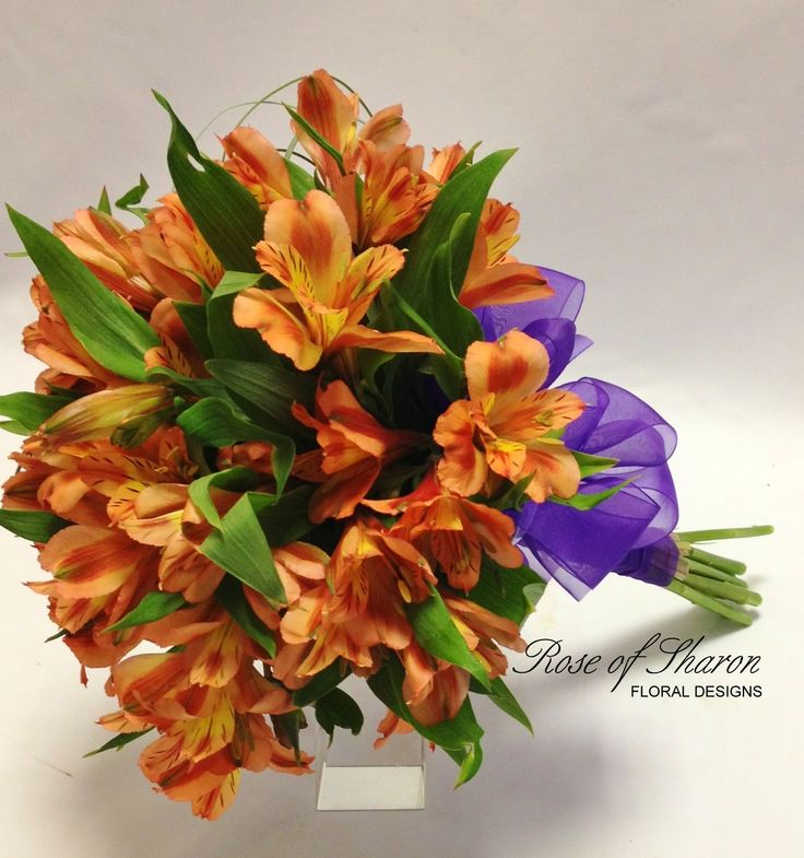 Orange Alstroemeria Lily bouquet | Evelyn's Page ...