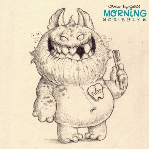 Chris Ryniak's Adorably Cute Monster Drawings ★ Find more at http://www.pinterest.com/competing/