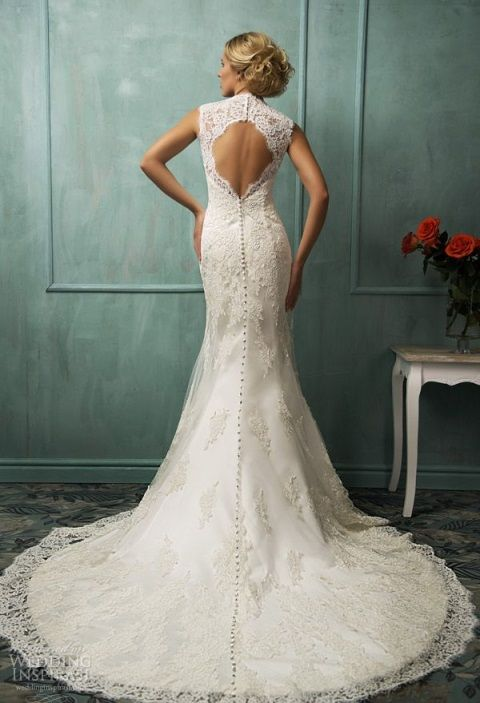 78 Gorgeous Keyhole Back Wedding Dresses | HappyWedd.com