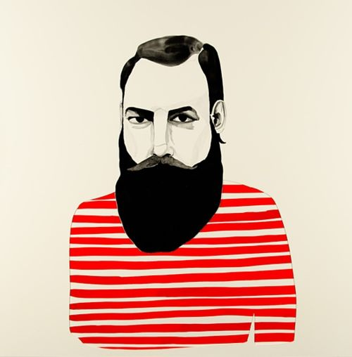 beard: Kreh Mellick, Art Inspiration, Beards Illustration, Beards Man, Graphics Eye, Illustration Man, Art Illustration, Drawing, Stripes Illustration
