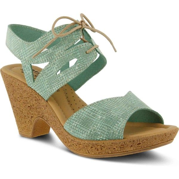 Sexy Spring Step Peeps Womens Wedge Sandals Blue Multi BI