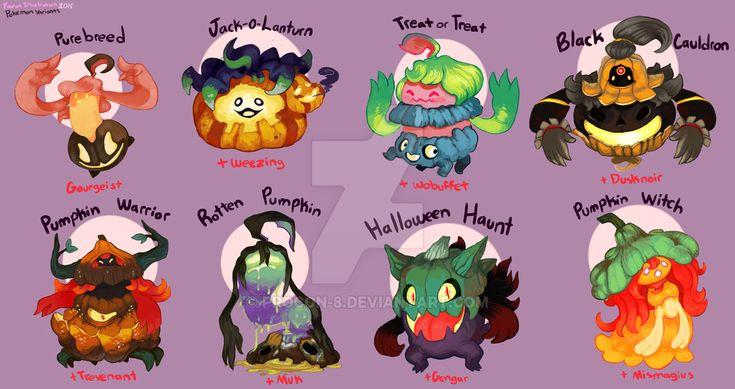 Pokemon Variations- Gourgeist by procon-8.deviantart.com on @DeviantArt