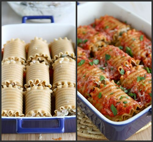 Leftover Turkey (or Chicken) Lasagna Roll Recipe with Sun-Dried Tomatoes & Spinach {Low Fat} by @CookinCanuck