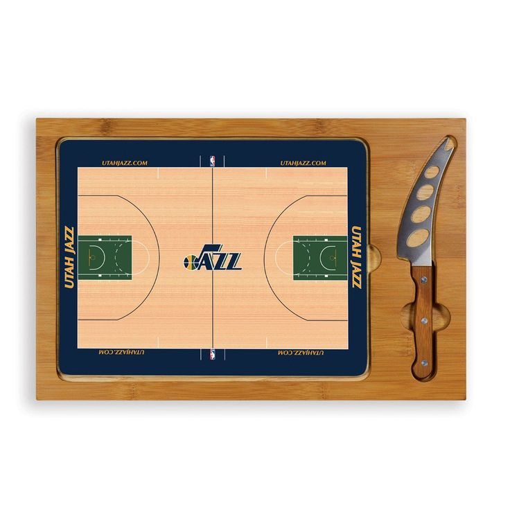 When you want a little pizzazz at the party include the simple yet elegant Utah Jazz Icon cutting board and serving tray.