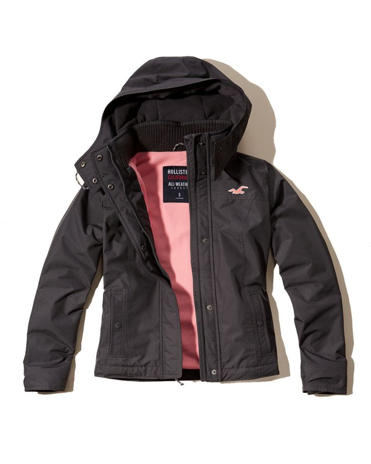 Hollister Womens All Weather Jacket Gray | *All kinds of ...