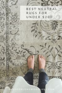 Best Neutral Rugs, Best Neutral Farmhouse Rugs, Inexpensive Rugs