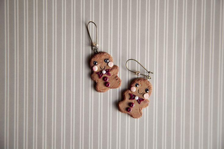 Ilianne | Jewelry Made of Love - Cute Gingerbread Men Earrings
