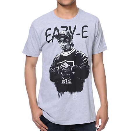 Eazy duz it into the most street style out there with the Rook They Call Me tee shirt for guys in the all grey color way. This standard fit crew neck tee shirt features short sleeves, a durable cotton construction, and the Godfather of Gangsta Rap Eazy-E custom graphic at front in black.  A small custom Rook logo is printed in white at the center for some added Rook representation. The They Call Me tee shirt from Rook Clothing well keep you looking Str8 off tha Streetz.