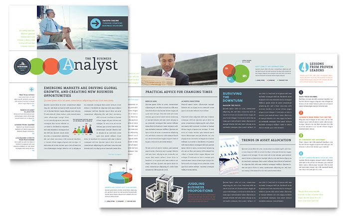 Business Analyst Newsletter Design Template by StockLayouts