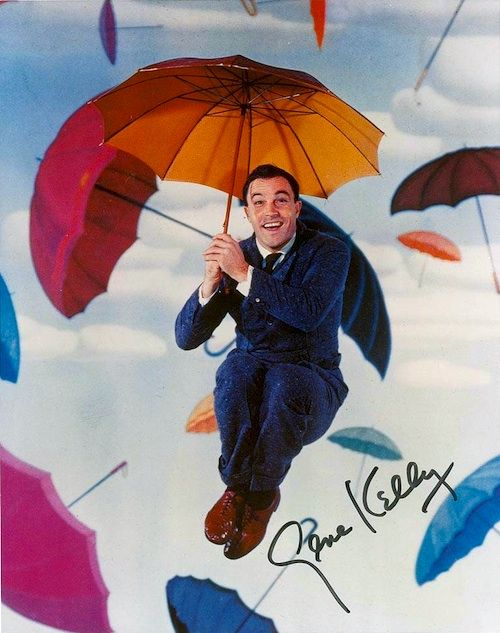 Use a favorite image in planning your kids' decor, like this Gene Kelly 'Singing in the Rain' print.  #genekelly #funprint