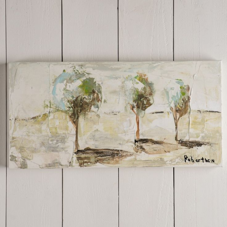 Three Trees canvas painting by Sarah Robertson