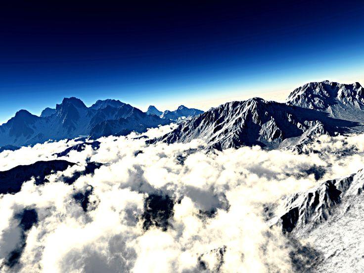 "Bildwerk ""View to the mountain"""