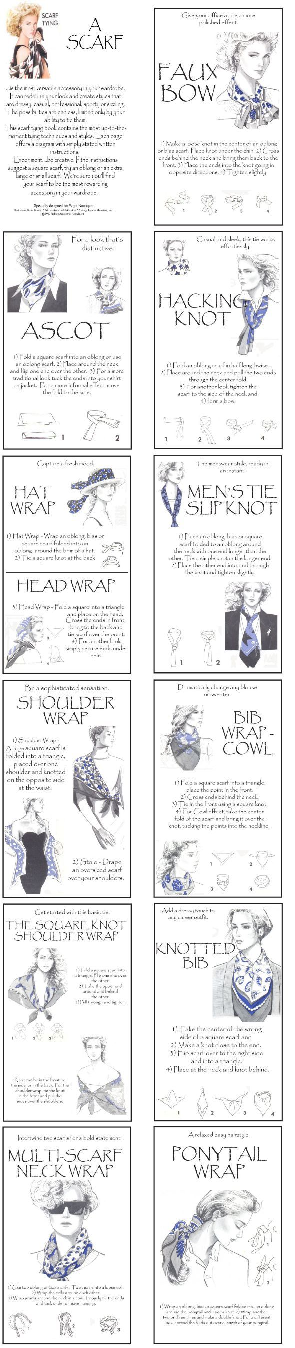 Many ways to tie a scarf                                                                                                                                                                                 More