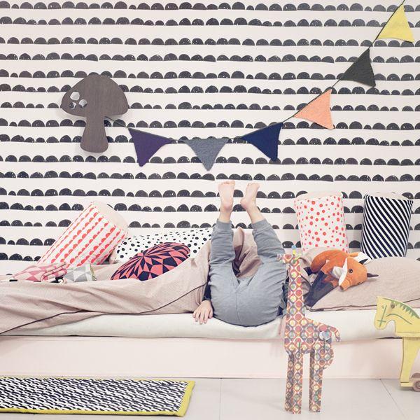 Ferm Living Half Moon wallpaper, black | Wallpapers | Decoration | Finnish Design Shop
