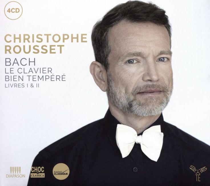 Christophe Rousset : Bach: Le Clavier Bien Tempéré Livres I & II / Aparte / Keyboard - Christophe Rousset's recordings of Books I and II of Bach's Well-Tempered Clavier feature a 1628 Ruckers harpsichord in the collection at Versailles. - Blair Sanderson #concert #schedule #albums