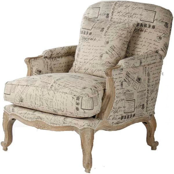 French script club chair found on polyvore for the home