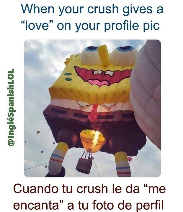 Cuando Tu Crush Le Da Me Encanta A Tu Foto De Perfil Learning Spanish English Memes Book Club Books