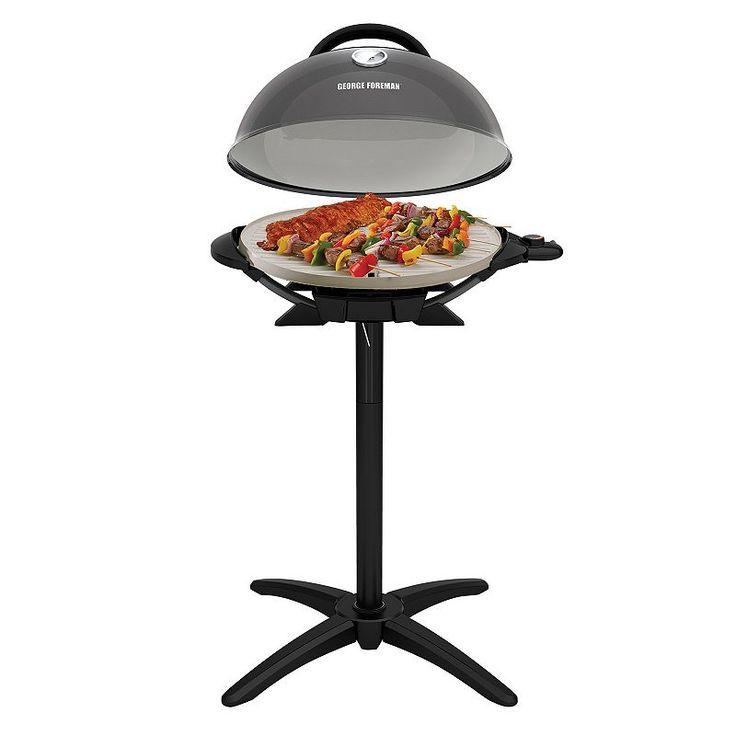 George Foreman Indoor / Outdoor Electric Grill, Dark Grey