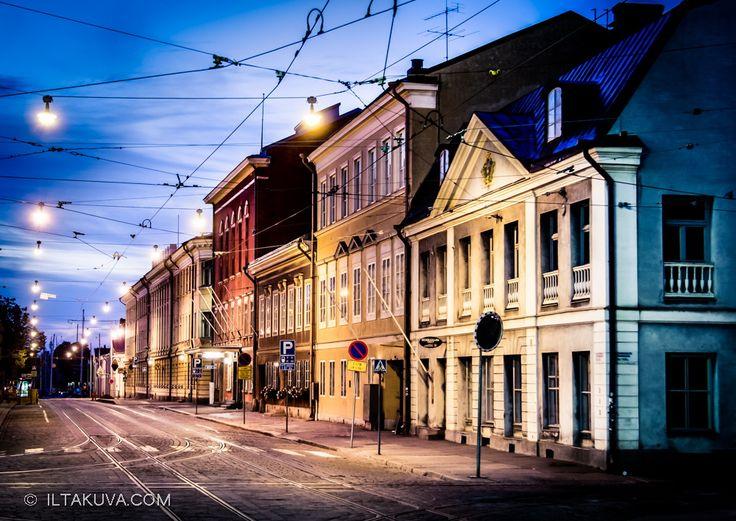 late night city lights
