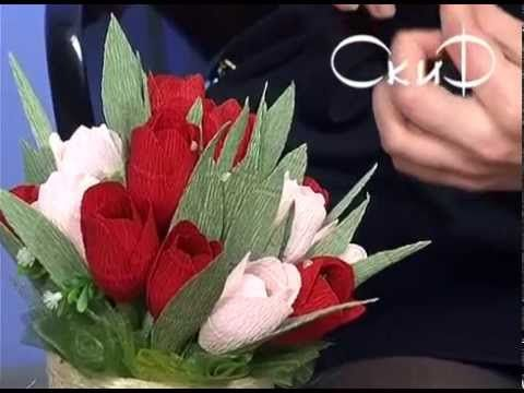 """Конфетный букет """"Крокусы"""". Мастер-класс handmade - YouTube"""
