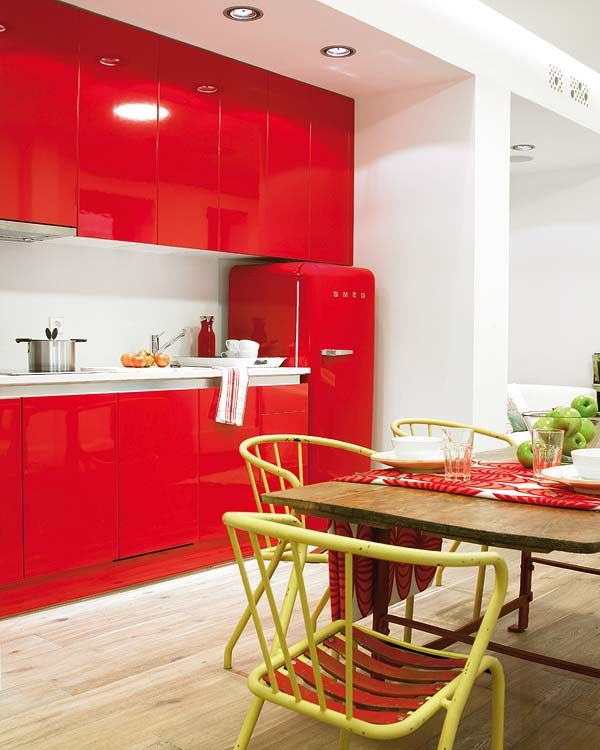 Red Decor For Kitchen: 25+ Best Ideas About Red Kitchen Cabinets On Pinterest
