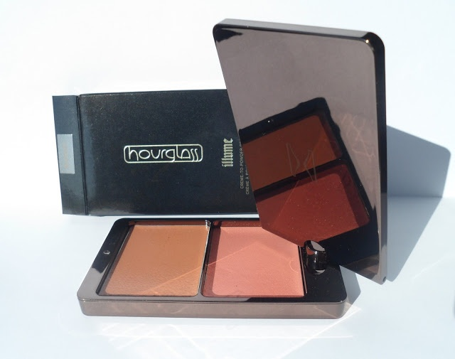 Buy it again Hourglass Illume creme-to-powder bronzer duo Sunset swatches/ Hourglass Illume кремовые румяна и бронзер Sunset свотчи