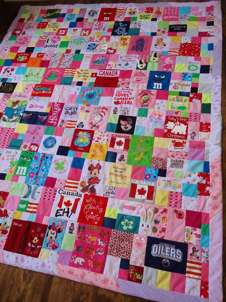 Baby clothes quilt. This is what I plan to do with all Braxton's baby clothes he's growing out of. Then I can keep them forever.