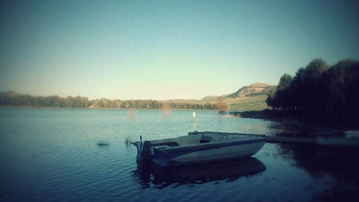 Lake in sicily