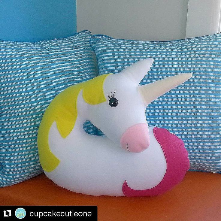 #Repost @cupcakecutieone with @repostapp It's a legless Unicorn! Will have to tweak the shape a little but I'm pretty happy with it. I think I have become a little obsessed with designing cushions! Definitely has to be a Deer next. by sewingpatterns
