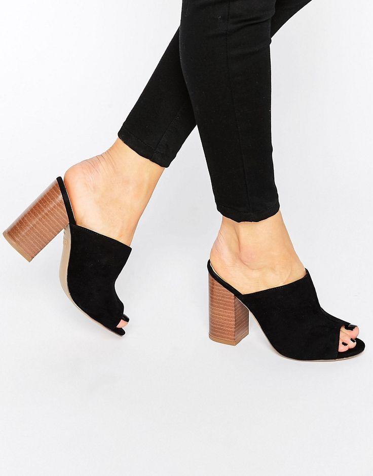 New Look Block Heel Mule 11cm heel, faux suede