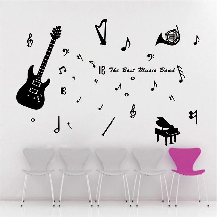 Music-Vinyl-Wall-Decal-Musical-Instrument-Piano-font-b-Bass-b-font-font-b-Guitar-b.jpg (700×700)